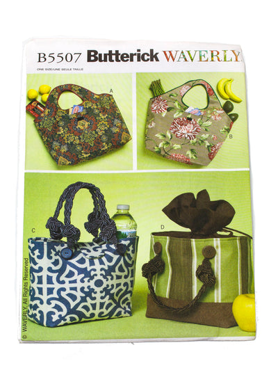 Butterick 5507 Waverly Shopping and Lunch Bags Uncut - One Size
