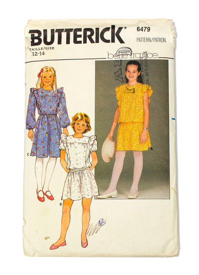 Butterick 6479  Belle France Girls Dress - Size 12 - 14
