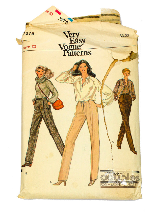 Vogue 7275 Womens Dress Pants - Size 12 - 14
