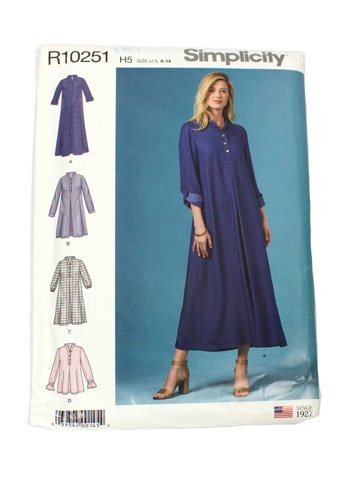 Simplicity 10251 Womens Dresses Uncut - Sizes 6 - 14