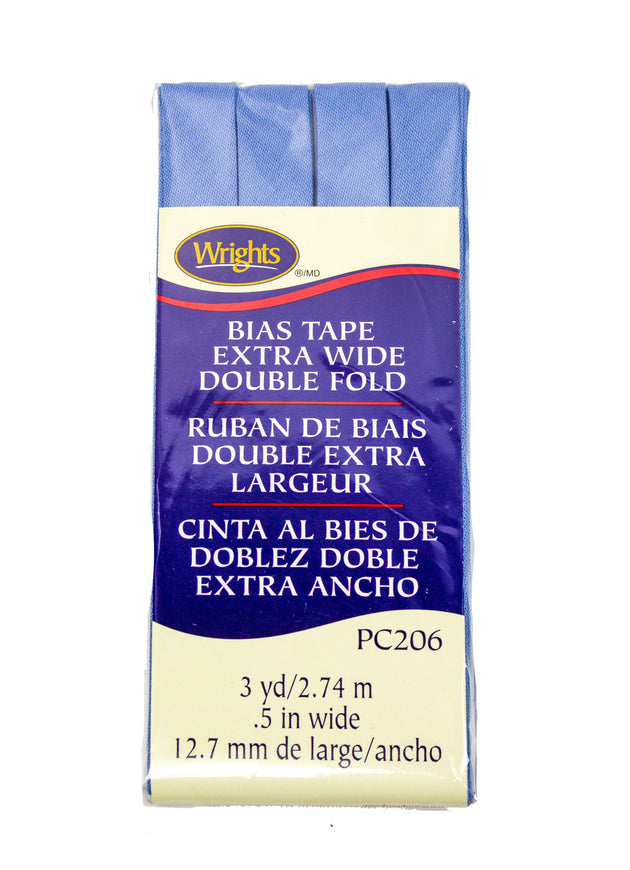 "Cotton Bias Tape Wrights Extra Wide Double Fold .5"" Wide 3 Yards"