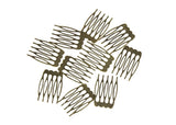 "Metal Millinery or Veil Hair Comb 1"" Wide - 10 Pieces - Humboldt Haberdashery"