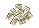 "Metal Millinery or Veil Hair Comb 2"" Wide - 10 Pieces - Humboldt Haberdashery"