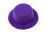 "Mini Top Hat Fascinator Base -  5"" Diameter with Hair Clips - Humboldt Haberdashery"