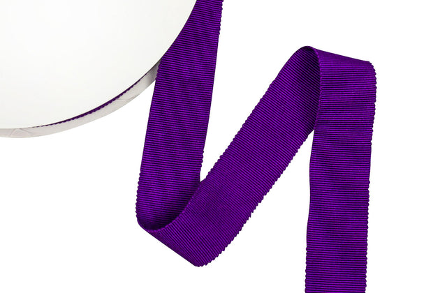Petersham Ribbon for Millinery 1 Inch 25 mm Sold by the Yard White