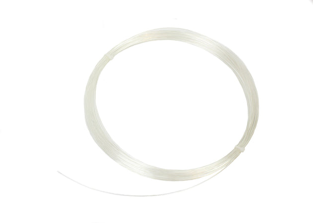 Polyester Plastic Memory Wire for Millinery Hat Brims - 1.5mm Transparent - 20 Yds - Humboldt Haberdashery