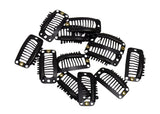 Snap Comb Hair Clips for Veil, Hair Extentions 32mm - 12 Pieces - Humboldt Haberdashery