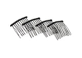 "Twisted Wire Comb for Veils and Headpieces 1 3/4"" Long - Four Pieces - Humboldt Haberdashery"
