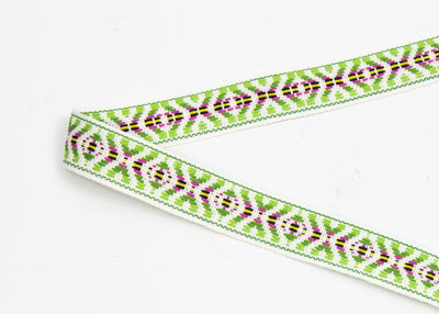 Vintage Ribbon Trim Colorful Woven Tribal Pattern, Sold by the Yard - Humboldt Haberdashery