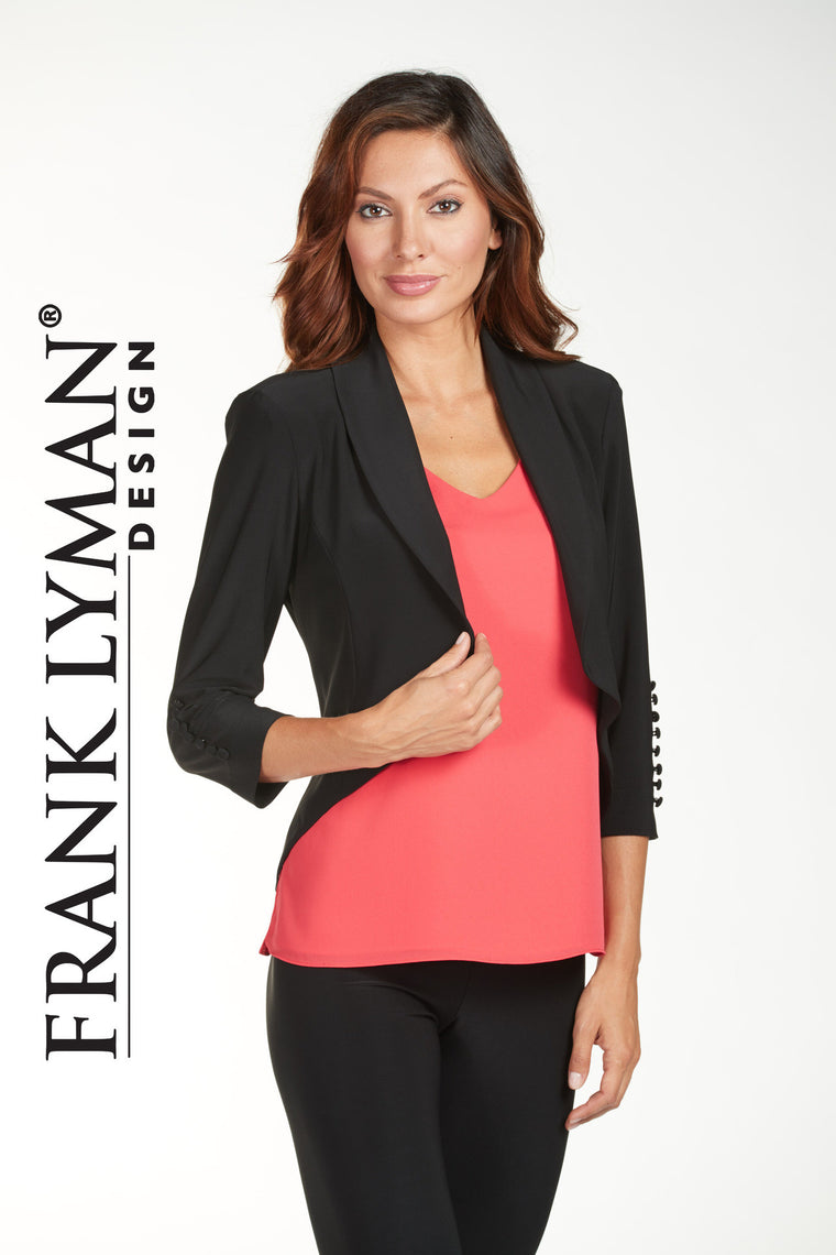 Frank Lyman Black Knit Jacket