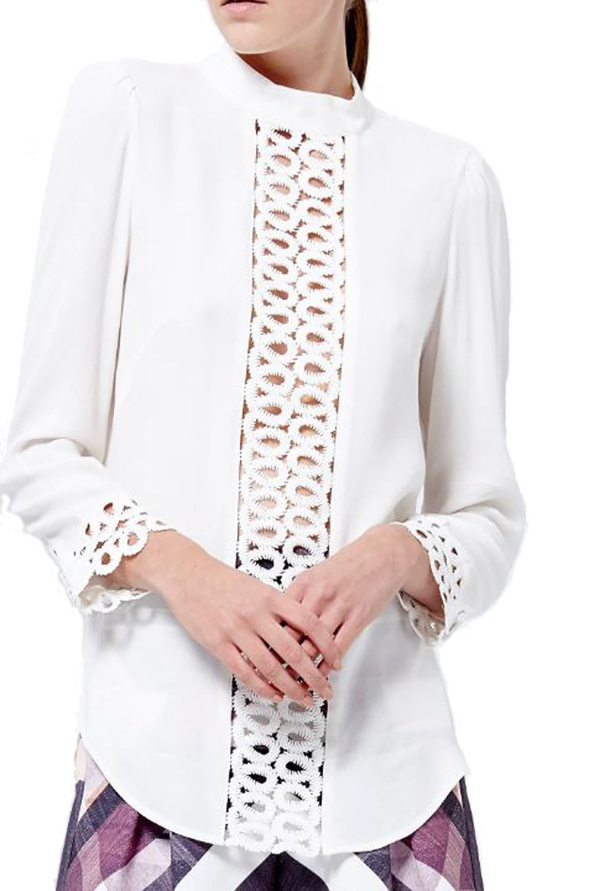 Rapture Lace Trim Blouse