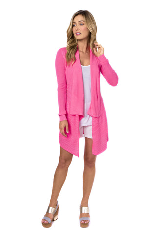 Ultra Pink Open Cardigan