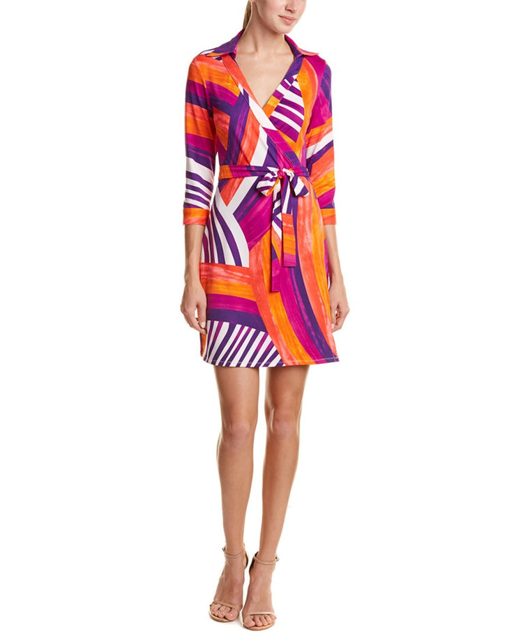 Julie Brown Milo Wrap Dress in Neon Rainbow.