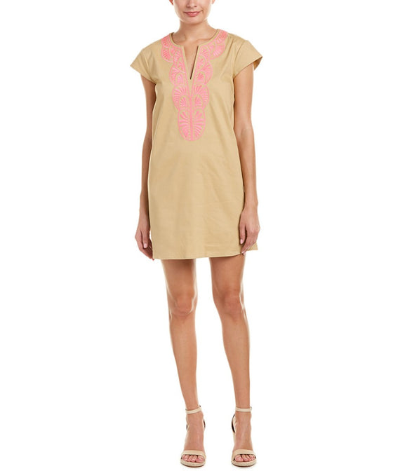 Julie Brown Cap Sleeve Shift Dress - Khaki