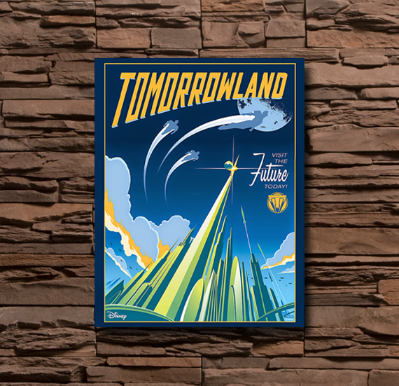 Disney Tomorrowland on Wall - 0017