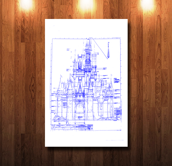 Walt Disney World Castle South Blueline Blueprint - 0045