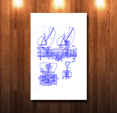 Walt Disney World Doom Buggy Blueline Blueprint - 0046