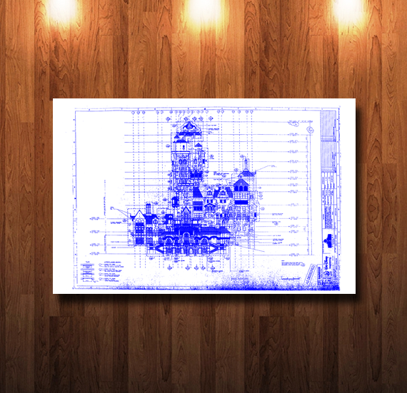 Disney Tower of Terror North Blueline Blueprint - 0063