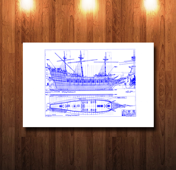 Disney Flying Dutchman Blueline Blueprint - 0065