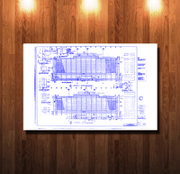 Disney Contemporary Hotel Blueline Blueprint - 0067