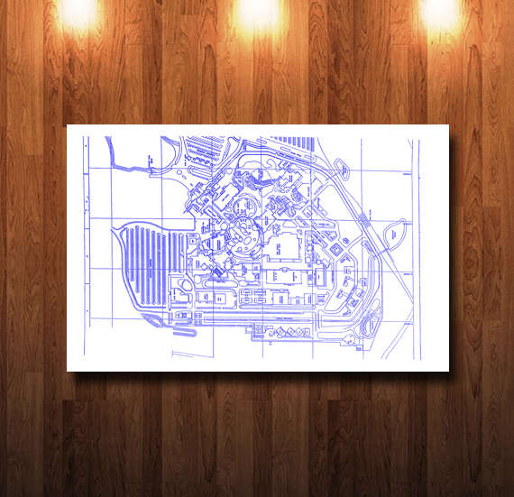 Disney MGM Site Plan Blueline Blueprint - 0080