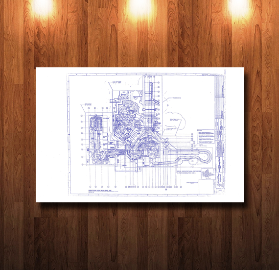 Walt Disney World Splash Mountain Ride Plan Blueprint - 0210