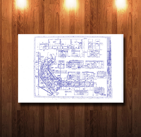 Walt Disney World Haunted Mansion Corridor of Doors Blueprint - 0211