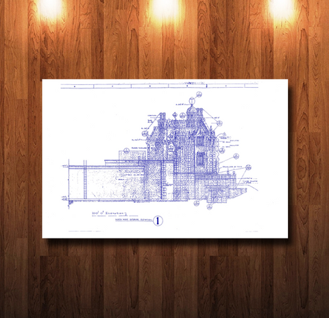 Walt Disney World Haunted Mansion NW Elevation Blueprint - 0212