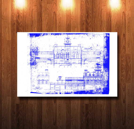 Walt Disney World Train Station Blueprint - 0215