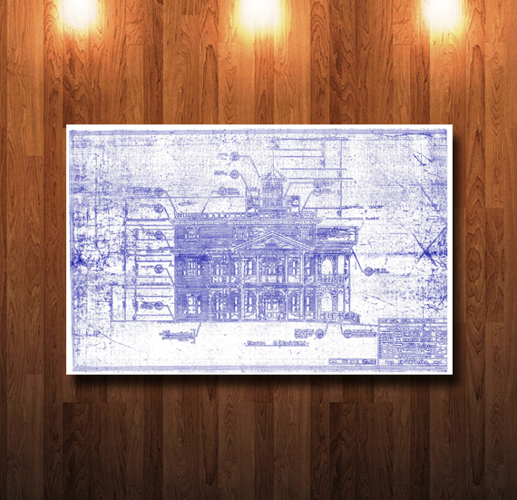 Disneyland Haunted Mansion Elevation Blueprint - 0217