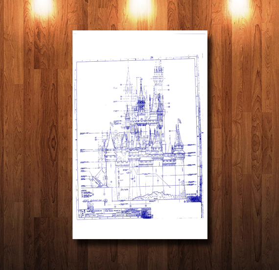 Walt Disney World Castle West Elevation Blueprint - 0220