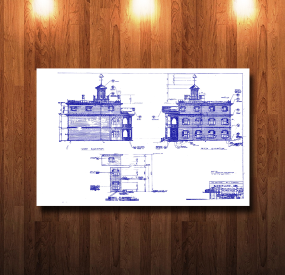 Disneyland Haunted Mansion Blueprint - 0221