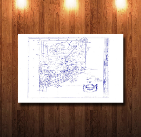 Disneyland Peter Pan Ride Blueprint - 0224