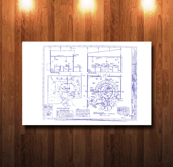 Walt Disney World Haunted Mansion Seance Scene Blueprint - 0226