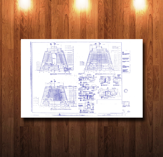Walt Disney World Contemporary Hotel Blueprint - 0231