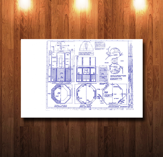 Walt Disney World Haunted Mansion Stretch Room Blueprint - 0233
