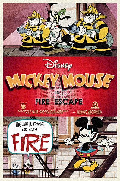 Mickey Mouse In Fire Escape  - 0391