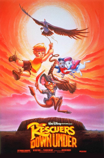 Walt Disney The Rescuers Down Under Movie Poster- 0417