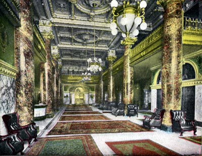 Interior of Alexandria Hotel Los Angeles 1920s Laykin et Cie