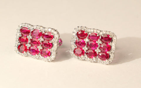 Platinum and Diamond Ruby Cufflinks