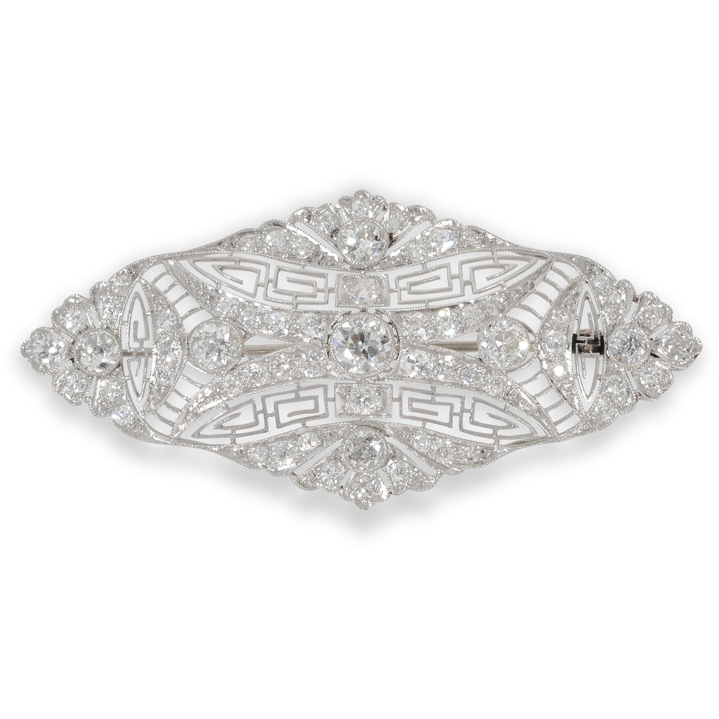 Laykin Diamond Company 1920's Fillegree Brooch