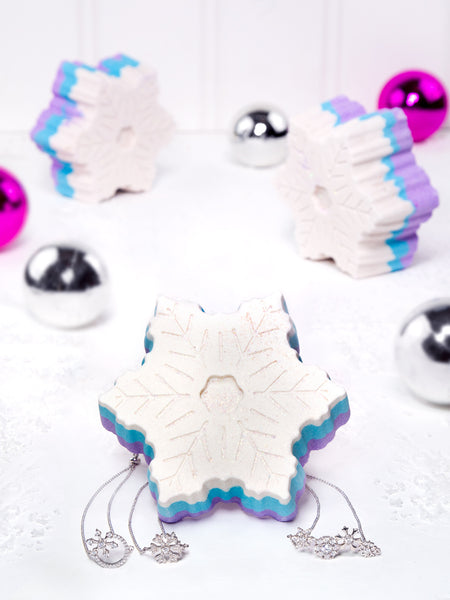 Snowflake Bath Bomb - Snowflake Bracelet Collection