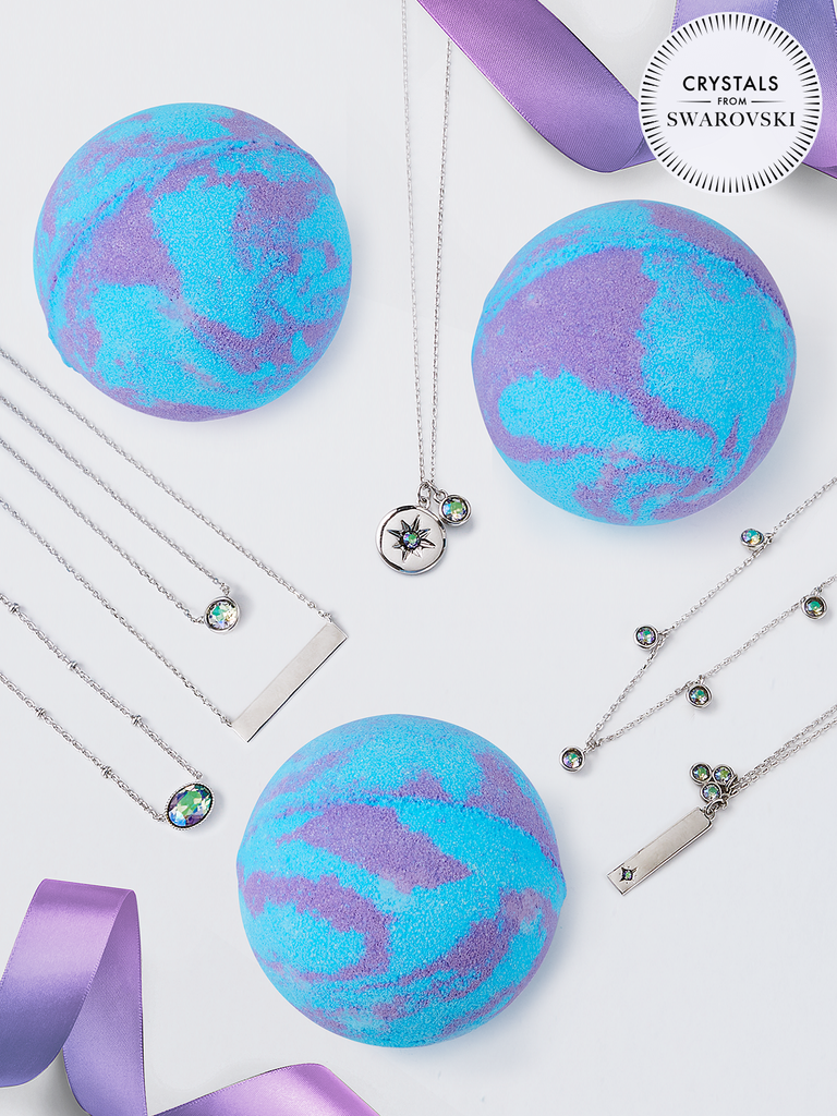 Alexandrite Birthstone Bath Bomb - Necklace Collection Made With Crystals From Swarovski®