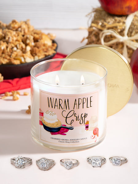 Warm Apple Crisp Candle - Classic Ring Collection