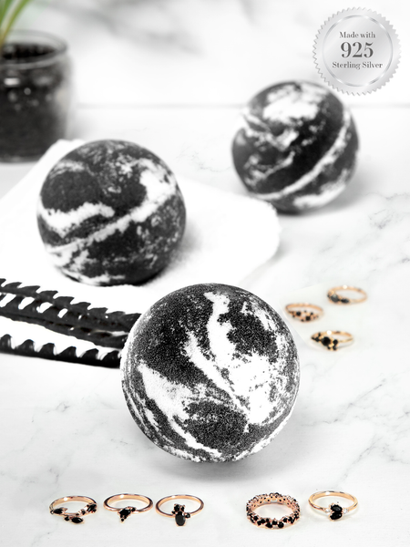 Charcoal Bath Bomb - Black Diamond Ring Collection