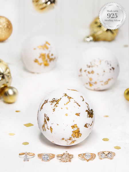 Champagne Shimmer Bath Bomb - Champagne Gold Ring Collection