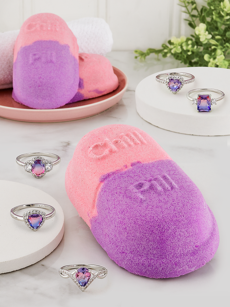 Chill Pill Bath Bomb - Ombré Ring Collection