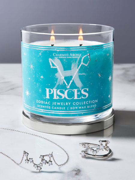 Pisces Zodiac Candle - Pisces Jewelry Collection