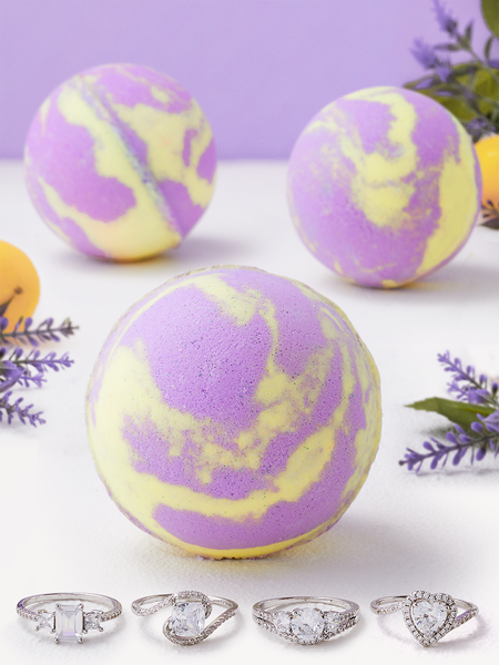 Lavender Lemonade Bath Bomb - Ring Collection