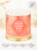Peach Sugar Kiss Candle - 925 Sterling Silver Ring Collection
